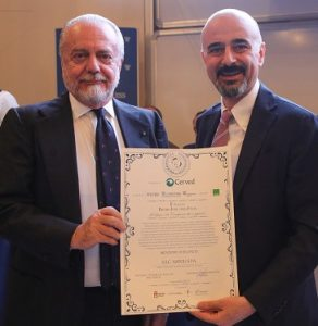 Giovanni Lo Storto insieme a Aurelio De Laurentis