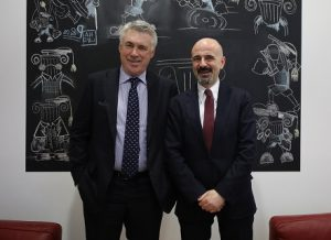 Giovanni Lo Storto con Carlo Ancelotti