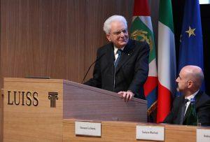 Giovanni Lo Storto con il Presidente della Repubblica Sergio Mattarella